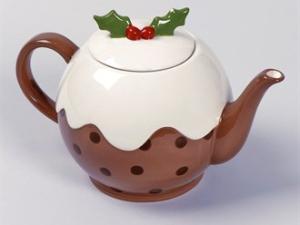 christmas pudding teapot Matalan