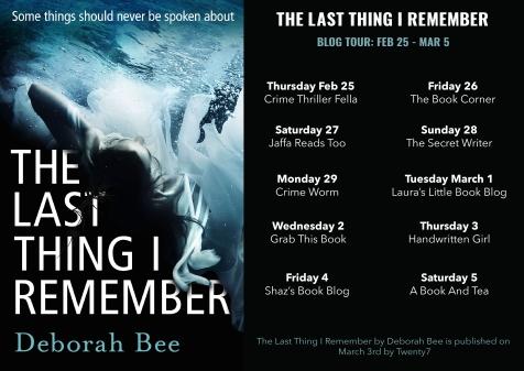 thelastthingiremember blog tour2
