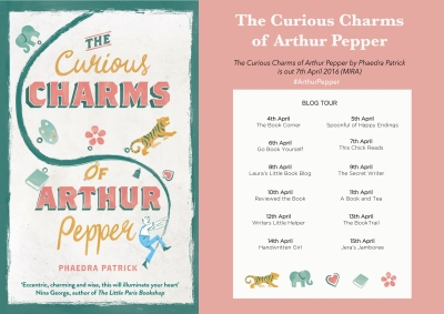 The Curious Charms of Arthur Pepper blog tour banner