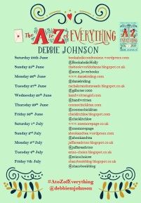 The a to z of everything book tour poster